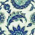 An Iznik Blue And White Pottery Tile, Turkey, 17th Century, By Adam Asar, No 18b by Adam Asar