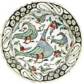 An Iznik Polychrome Pottery Dish With Birds by Celestial Images
