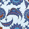 An Iznik Polychrome Pottery Tile, Turkey, Circa 1570-85, By Adam Asar, No 18 by Adam Asar