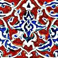 An Iznik Polychrome Pottery Tile, Turkey Circa 1580, By Adam Asar, No 18b by Adam Asar
