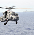 An Mh-60r Seahawk Helicopter In Flight by Stocktrek Images