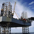 An Oil And Gas Drilling Platform by Justin Guariglia