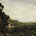 An Old Chapel In A Valley by Theodore Rousseau