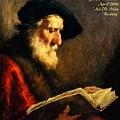 An Old Man Reading P A by Gert J Rheeders