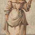 An Old Market Woman Grinning And Gesturing With Her Left Hand by Paul Sandby