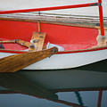 An Old Sailboat Tied To The Dock by Michael S. Lewis
