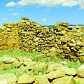 An Old Wall At The Pecos Ruins by Jeff Swan