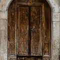 An Old Wooden Door by Andrea Mazzocchetti