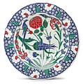 An Ottoman Iznik Style Floral Design Pottery Polychrome, By Adam Asar, No 1 by Adam Asar