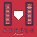 Anaheim Angels Art - Mlb Baseball Wall Print by Damon Gray
