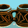 Anasazi Double Mug by David Lee Thompson
