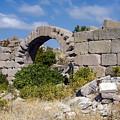 Ancient Bergama Acropolis Ruins by Bob Phillips