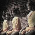 Ancient Buddha Statues by Eena Bo