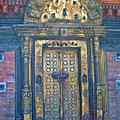 Ancient Door In Katmandu Nepal by Dorota Nowak