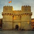 Ancient Gateway Valencia Spain by Joan Carroll