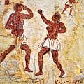 Ancient Greek Graffitti Of Boxers by Brenda Kean
