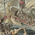 Ancient Greek Sea Battle by German School