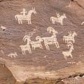 Ancient Hieroglyphics In Arches National Park by Elijah Weber
