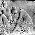 Ancient Roman Relief Carving Of Midwife by Wellcome Images