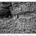 Ancient Ruins Mystery Valley Colorado Plateau Arizona 02 Bw Text by Thomas Woolworth
