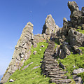 Ancient Steps Leading To Celtic Monastery, Skellig Michael, County Kerry, Ireland by Peter Barritt