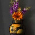 Ancient Vase And Flowers by Stephen Lucas