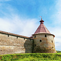 Ancient Wall And Tower Of The Fortress Oreshek by Sergey Grishin