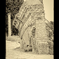 Ancient Wall Of Ostia Antica by Prints of Italy