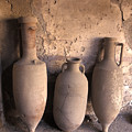Ancient Wine Clay Vases  In A Wine by Richard Nowitz