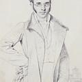 Andre-benoit Barreau, Dit Taurel by Jean Auguste Dominique Ingres