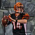 Andy Dalton Cincinnati Bengals Blocks by Joe Hamilton