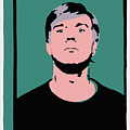 Andy Warhol Self Portrait 1964 On Green - High Quality - Stamp Edition 2012 by Peter Potamus