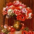 Anemones 1909 by Renoir PierreAuguste