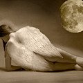 Angel And Moon by Gustavo Fortunatto
