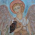Angel And Owl by Rain Ririn