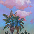 Angel Clouds And Palms by Diane McClary