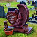 Angel Guarding Grave Hvalsneskirkja Graveyard Iceland by Deborah Smolinske