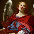 Angel Holding The Vessel And Towel For Washing The Hands Of Pontius Pilate by Simon Vouet