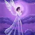 Angel In Amethyst Moonlight by Laura Iverson