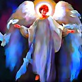Angel Lit With Halo by Catherine Lott