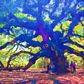 Angel Oak Tree by Donna Bentley