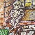 Angel Protecting Home by Geraldine Myszenski
