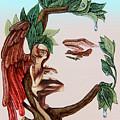 Angel, Watching The Reincarnation Of Marilyn Monro. Op.2769 by Victor Molev
