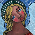 Angel With Green Halo by Julie-ann Bowden