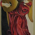 Angel With Lute by Ronnie Lee