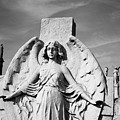 Angel With Outspread Wings And Other Angels In The Background by David Wolanski
