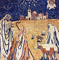 Angel With Shepherds by Munir Alawi