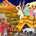 Angels And Shepherds by Munir Alawi
