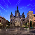Angels Flying In Front Of The Cathedral Of The Holy Cross And Sa by Andrey Omelyanchuk
