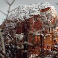 Angels Landing Under Snow by Daniel Woodrum